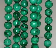 6MM NATURAL MALACHITE GEMSTONE GREEN ROUND 6MM LOOSE BEADS 16""