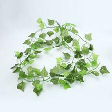 Artificial Green Leaf Garland Plants Vine Foliage Plastic Fake Plants Decoration