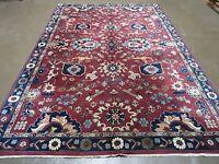 6' X 9' Vintage Hand Made  Persian Heriz Karajeh Mahal Rug Wool Carpet Nice