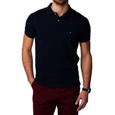 Tommy Hilfiger Polo Poloshirt dunkelblau marine navy Gr. L *NEU+ OVP*
