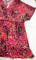 womens short sleeve pink & black print dress by Worthington size 3X brand new!