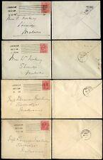 GB KE7 1910-11 MACHINE CANCELS COLUMBIA...4 COVERS