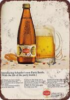 """1967 Schaefer Beer Party Bottles Vintage Retro Metal Sign 8"""" x 12"""""""
