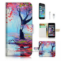 ( For iPhone 7 ) Wallet Case Cover P1030 Trees