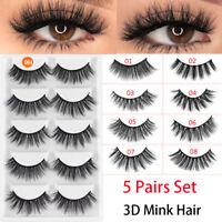 Long Handmade Full Strips 3D Mink Hair Eyelashes Extension False Eyelashes