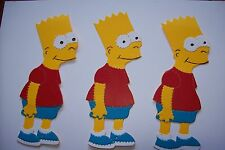 3 BART SIMPSON   HANDMADE Card Toppers