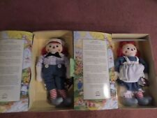 Raggedy Ann & Andy Inspired by Worth Gruelle Limited Edition Applause NEW!