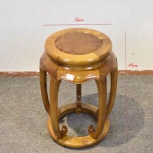 Round Stool Drum stool Ming Dynasty Style Silkwood Gold thread Nan wood金絲楠#1176