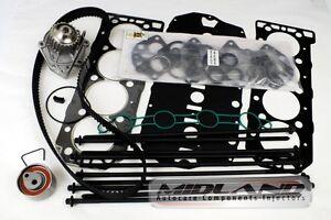 LANDROVER FREELANDER 1.8 16v ENGINE HEAD GASKET SET+BOLTS+TIMING BELT+WATER PUMP