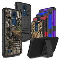 For LG K30/Premier Pro LTE/Xpression Shockproof Armor Stand Belt Clip Cover Case
