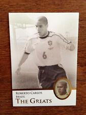 2013 Futera Greats Unique Soccer Card- Brazil ROBERTO CARLOS Mint
