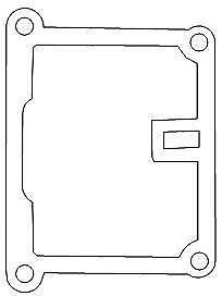 Kawasaki KE100 11060-1617 Gasket Gasket