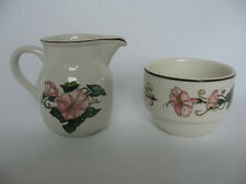 Villeroy & Boch Palermo porcelaine creamer & open sugar bowl morning glories