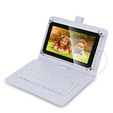 Tabsuit Micro USB Keyboard PU Leather Case Stand for 10.1'' Tablet PC white