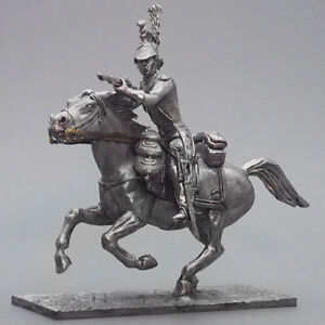 Tin soldier, Private Dragoon of the French Imperial Guard, Napoleonic Wars 54 mm