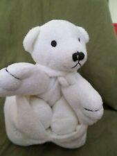 OURS PELUCHE BLANC yves rocher, dans son sac, TEDDY BEAR, VF TOYS