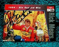 Hi Tech INDY 500 Trading Card AUTOGRAPHED Hand Signed INDY Winner RICK MEARS