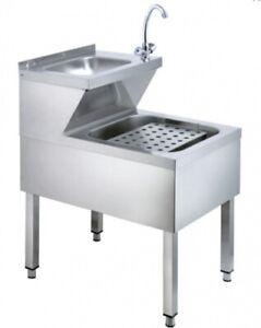 Handwaschausgussbecken -0,5x0,6m Handwaschbecken Gastro Waschbecken Spüle NEU