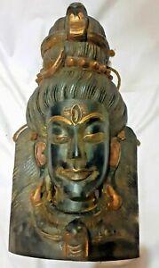 Holz Shiva Maske Nepal (Shiva Mask Wooden and handmade)