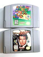 LOT of 2 N64 Nintendo Games - 007 Goldeneye & Super Mario 64 AUTHENTIC Original!
