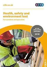 Citb New 2018 Cscs Card Test Book Health Safety And Environment For Operatives