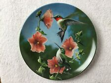 """Edwin M Knowles collector plate """"The Humming Bird"""""""
