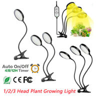 LED Grow Light Plant Growing Lamp Lights Indoor Plants Flower Hydroponics Timer