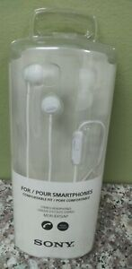 New ! SONY MDR-EX15AP Stereo headphones for smartphones White