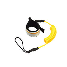 Surfboard Ankle Leash Rope Coiled Stand Paddle Elastic Safety Surfing Belt Strap