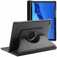 Coque Tablette Huawei MediaPad M5 Lite 10.1 Housse Etui Noir Rotatif 360 PU Cuir
