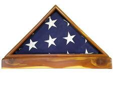 AROMATIC CEDAR VETERAN MEMORIAL FLAG DISPLAY CASE 5X9 US MILITARY FUNERAL BURIAL