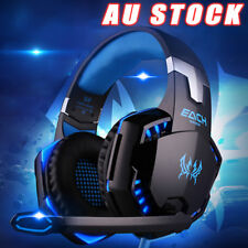 3.5mm Gaming Headset LED Headphones Mic Stereo Surround for Laptop PC PS4 Xbox