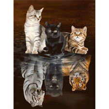 DIY 5D Animals Diamond Painting Kits Full Drill Art Embroidery Decors Cats Gifts