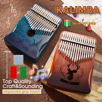 17 Key Mahogany Solid Wood Kalimba Thumb Piano Mbira African Musical Instrument