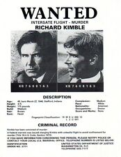 The Fugitive,  Wanted Poster, Harrison Ford, Tommy Lee Jones