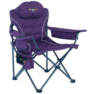 OZTRAIL MODENA PURPLE CHAIR (FCE-MOD-F) Folding Camping Picnic Arm Chair
