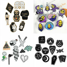 Punk Creative Skeletor Skull Witch Totems Brooches Lapel Enamel Pins Badge Gifts