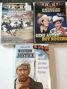 Western Movie Lot of 3 Sets 6 DVDs 21 Movies in All Gene Autry Roy Rogers More