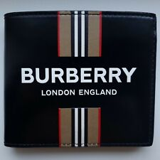 Burberry Bifold Wallet New 100% Authentic Leather Black New Collection RRP 350$