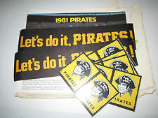 1982 PITTSBURGH PIRATES BASEBALL STICKERS AND MORE LOT - EXCELLENT - BOX BPR 1