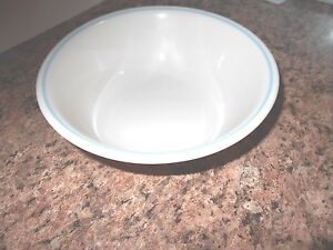 Corelle Cream Colored Beige Blue Lily Lilly Coral Bowl Soup