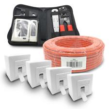 Cat 7 verlegekabel 100m cable de red 4x red lata cat6a herramienta Red