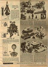 1970 ADVERTISEMENT Toy Apollo Lunar Module Billy Blastoff Robbie Robot GI Joe