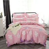 Leaf Pink Single/Double/Queen/King Bed Quilt/Doona/Duvet Cover Set 100% Cotton