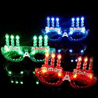 LED Flashing Light Up Happy Birthday Party Glasses Shades for kid Random Color