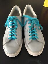 Nike Sweet Classic Leather Sneakers 354496 Skateboard Size 9 Grey Teal Laces