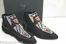 GIUSEPPE ZANOTTI DESIGN size 36 ankle boots Black Leather E47028 NEWS value 995€