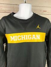 NWOT Mens Jordan Nike Michigan Wolverines Gray Team Sweatshirt Size Medium RARE