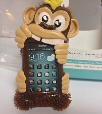 Fone Face Bounce Cell Phone Shock Resist Cover Stretchable NIB Monkey