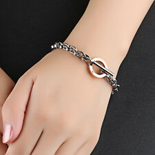 Edelstahl Damen Armband Armreif Armkette Roségold Silber Bracelet Bettelarmband